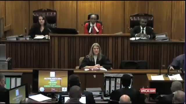 News video: Judge Masipa warns the overflow courtroom