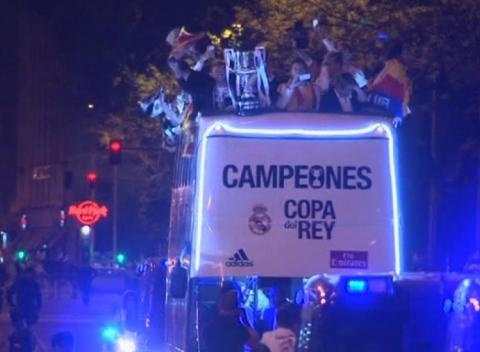 News video: Real Madrid Celebrate Cup Win Over Barcelona
